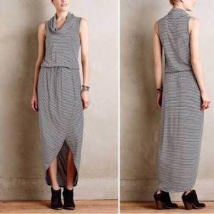 Anthro | Dolan | Striped Cowl Neck Maxi Dress